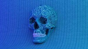 skull in cyberspace