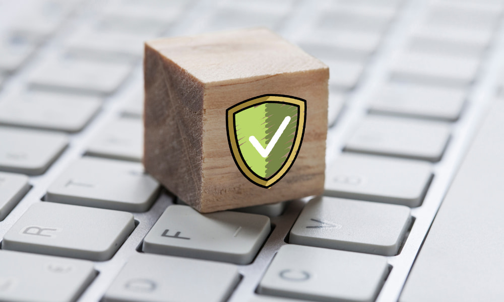 Block on keyboard symbolizing cybersecurity frameworks