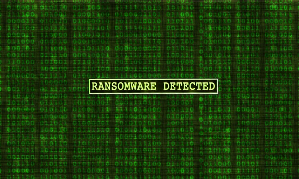 Alert displaying ransomware detected in a company's database